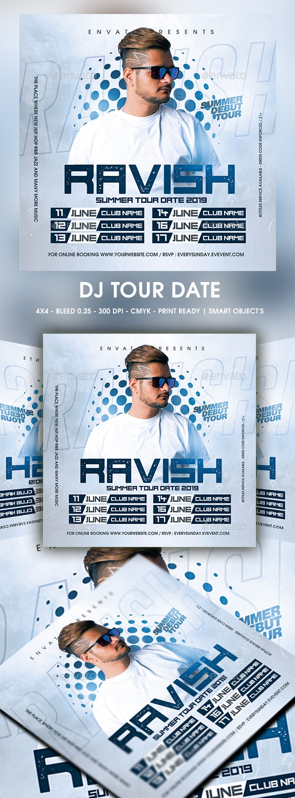 DJ Tour Date - Events Flyers