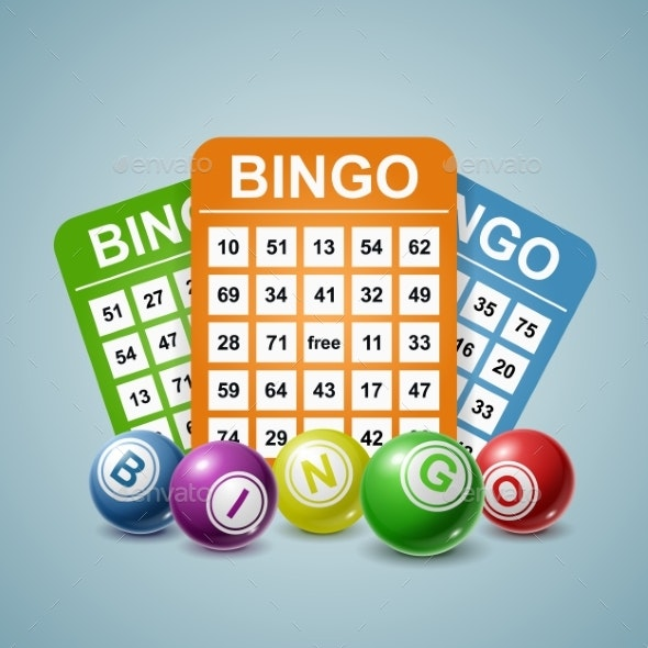 Bingo Ball and Tickets Background - Miscellaneous Vectors
