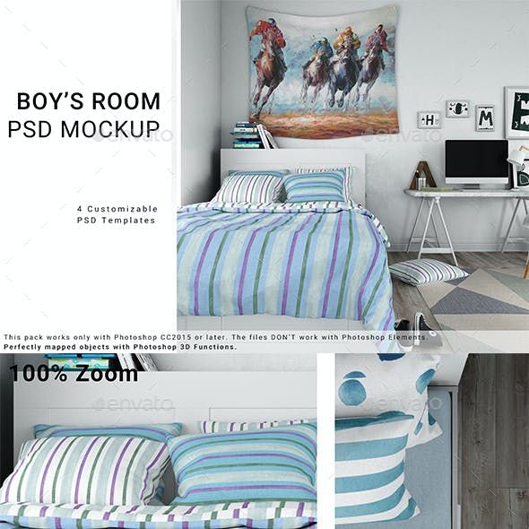 Boy's Room - Bed Linen Tapestry Rug