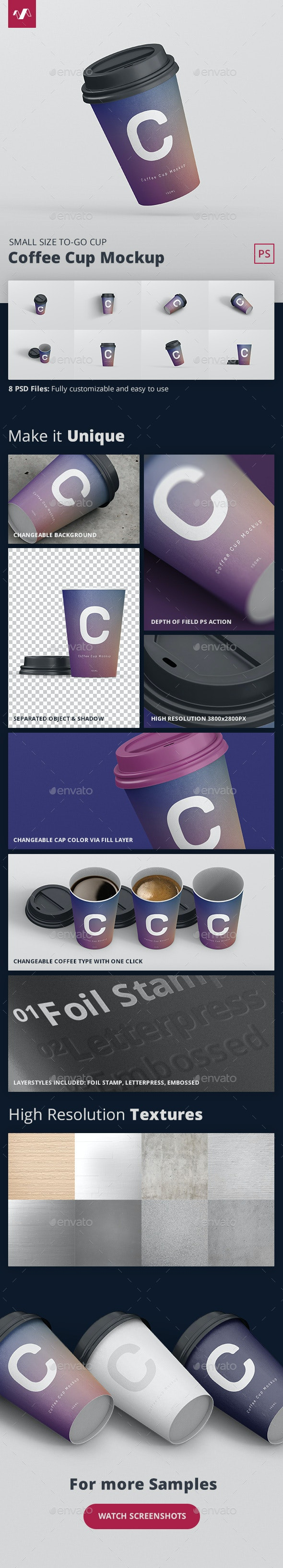Coffee Cup Mockup Small Size - Food and Drink Packaging