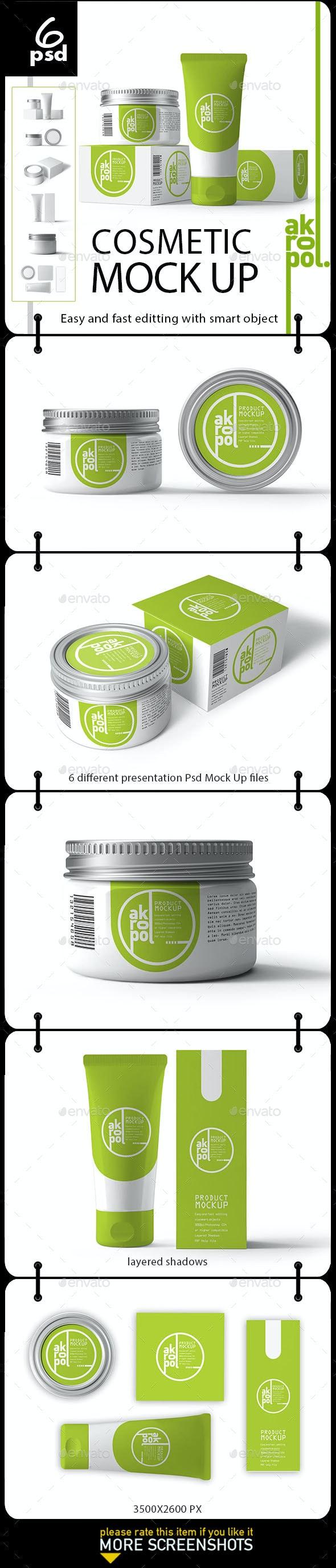 Cosmetic Mock Up - Product Mock-Ups Graphics