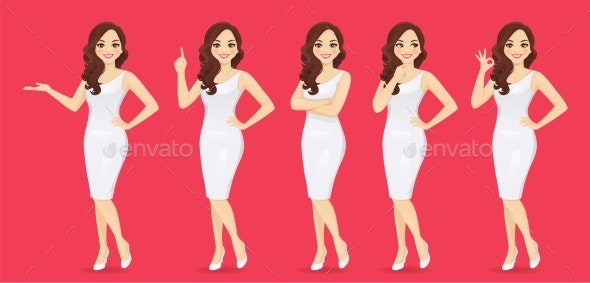 Woman in Dress Set - People Characters