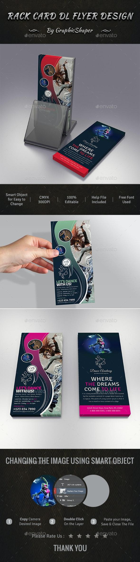 Rack Card DL Flyer Design - Commerce Flyers