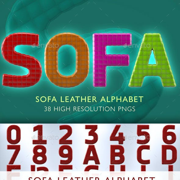 Sofa Leather Alphabet