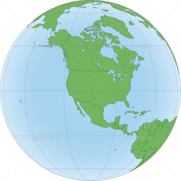 Earth Globe with Focus on North America - Backgrounds Decorative