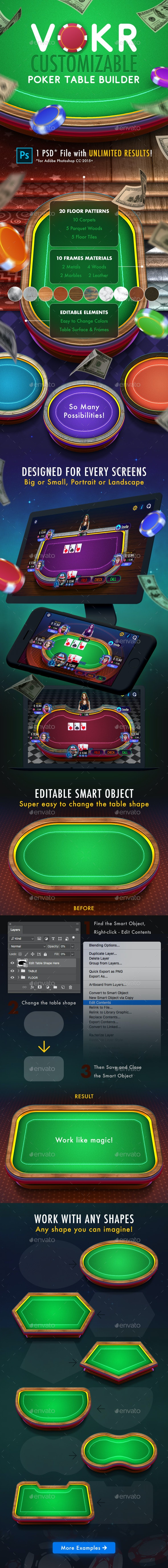 Vokr: Poker Table Builder - Miscellaneous Game Assets