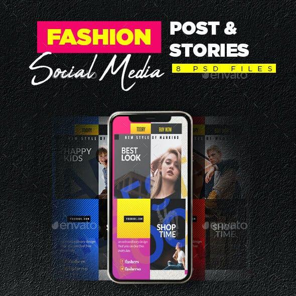Fashion Social Media Post & Stories