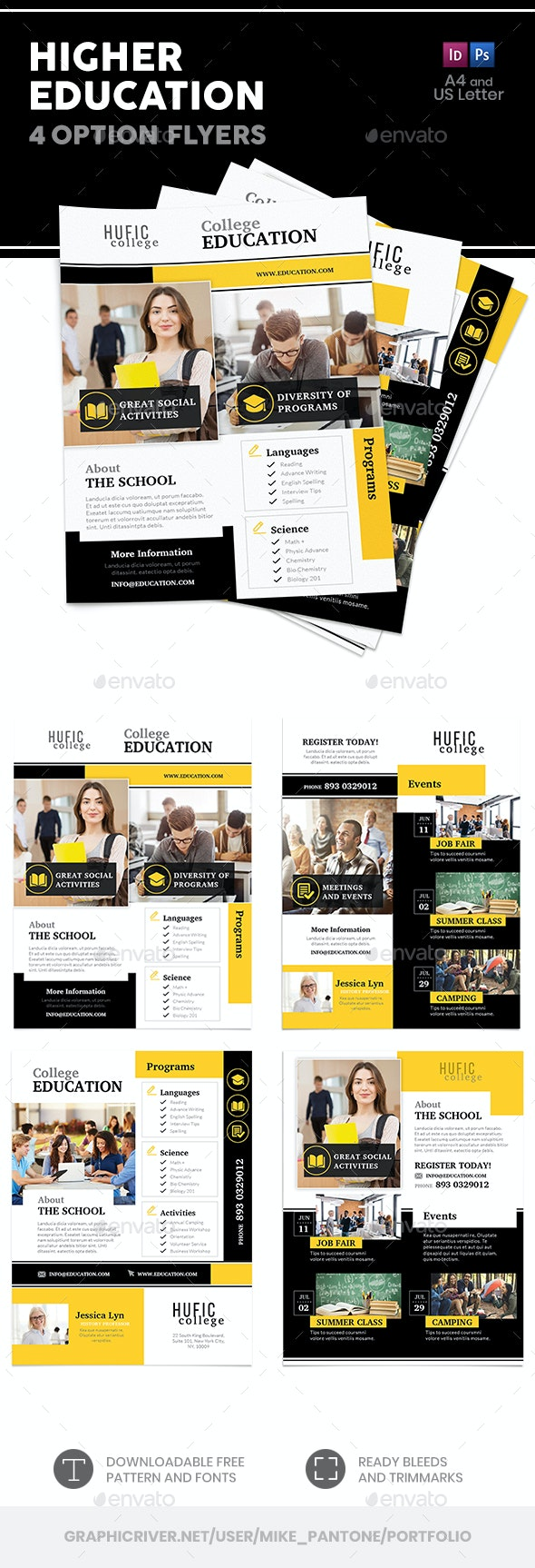 Higher Education Flyers – 4 Options - Corporate Flyers