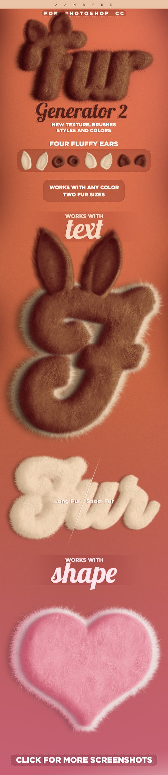 Fur Generator 2 Photoshop Action - Text Effects Actions