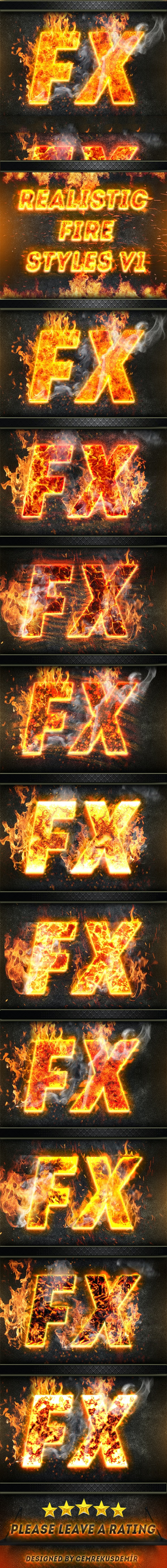 Realistic Fire Styles V1 - Text Effects Actions