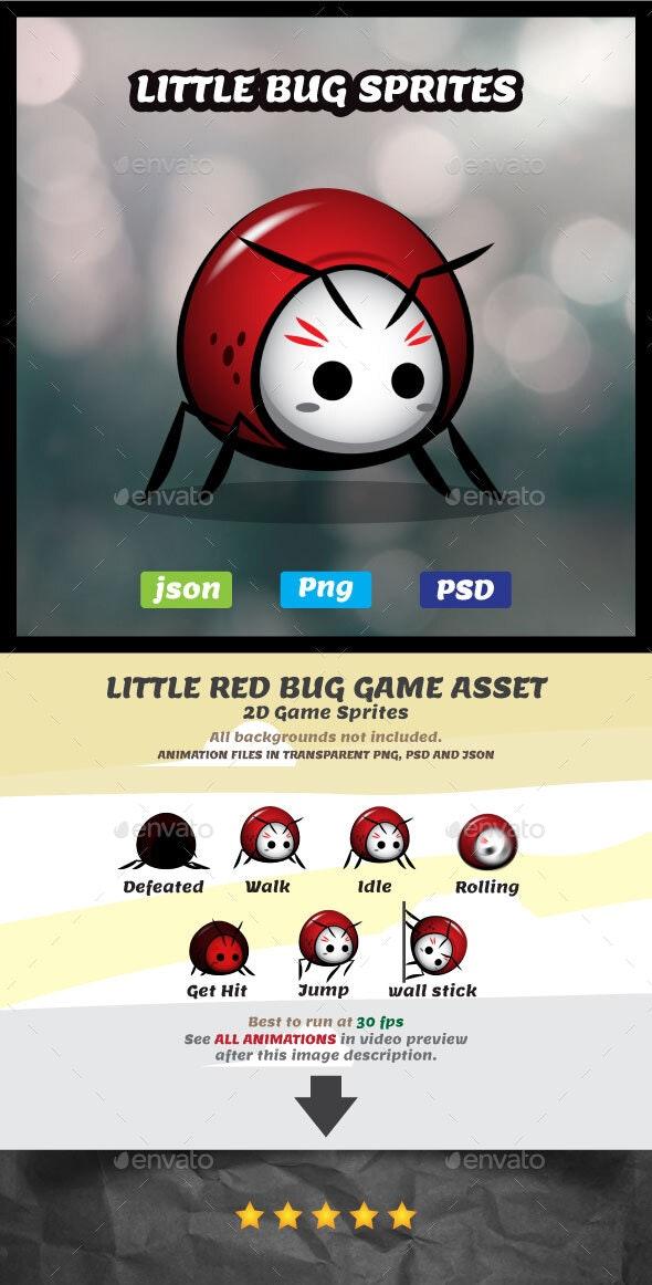 Little Bug Sprites Game Asset - Sprites Game Assets