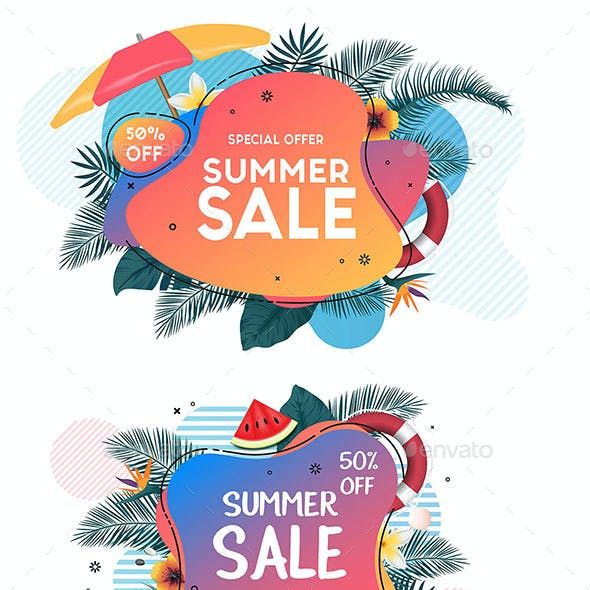 Collection of Summer Sale Promo Web Banners