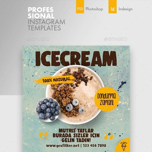 Ice Cream Instagram Templates