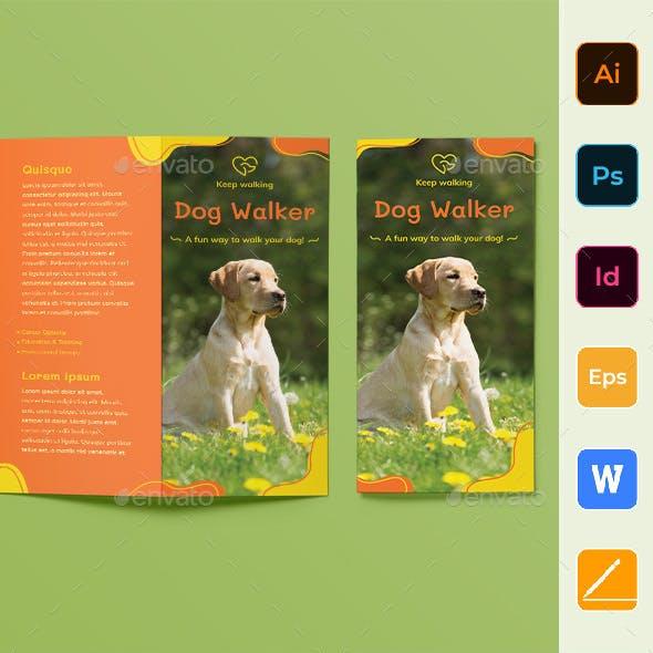 Dog Walker Trifold Brochure