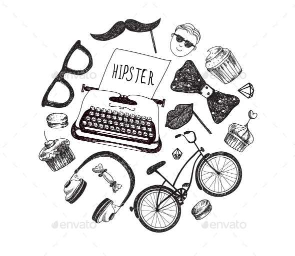 Vector Hipster Style Infographics Elements - Miscellaneous Vectors