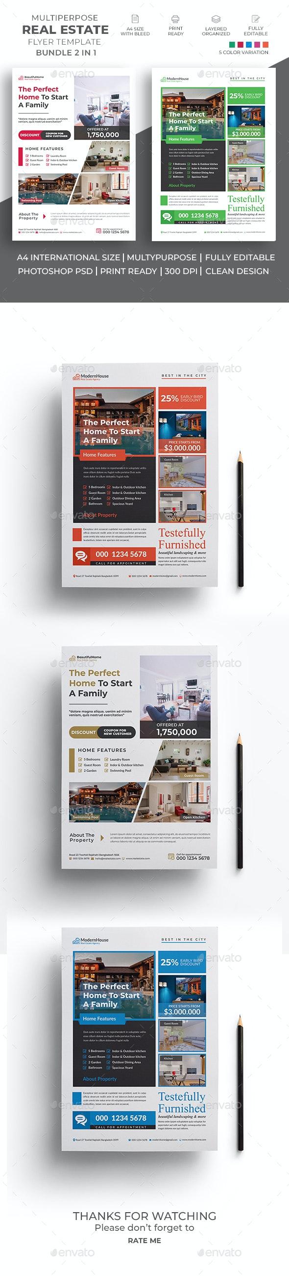 Real Estate Flyer Bundle 01 - Commerce Flyers