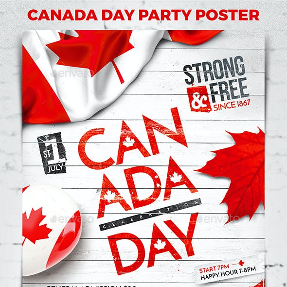 Canada Day Party Poster vol.2