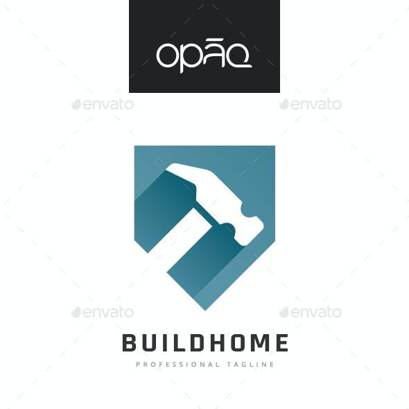 Hammer Shield Construction Logo