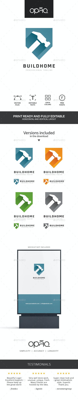 Hammer Shield Construction Logo - Objects Logo Templates