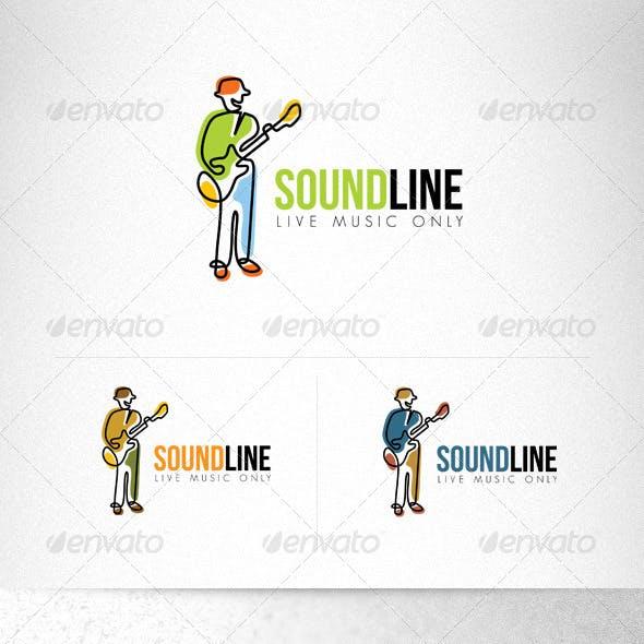 Sound Line Live Sound Creative Logo Template
