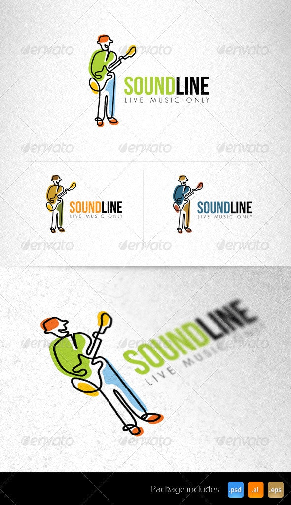 Sound Line Live Sound Creative Logo Template - Humans Logo Templates