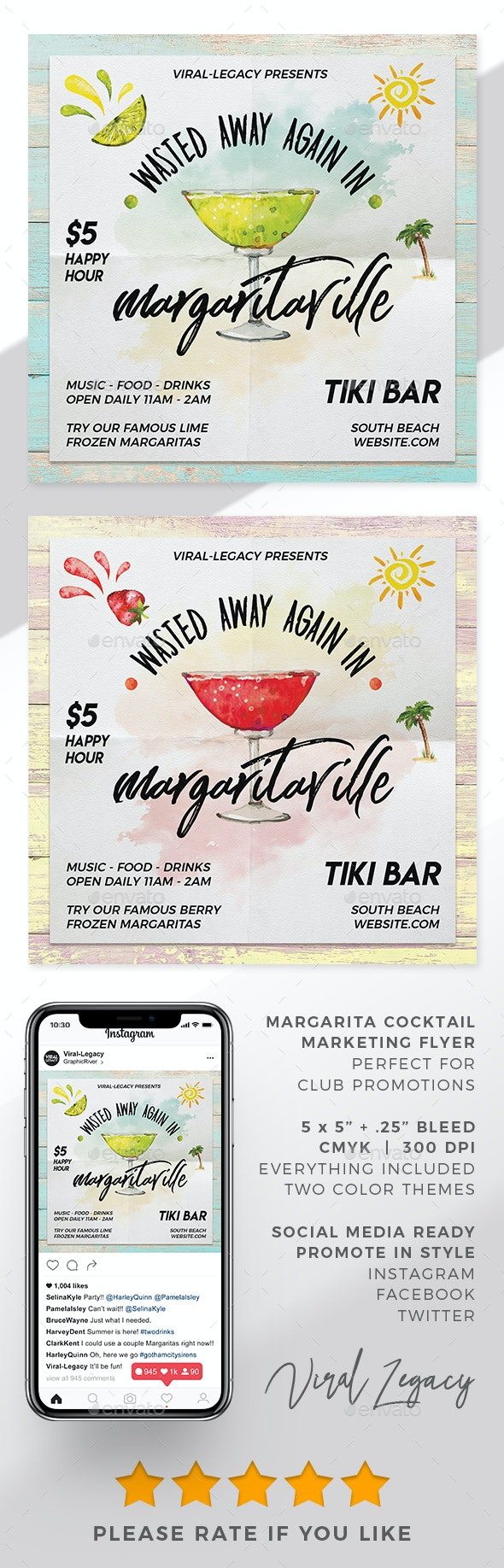 Margarita Promo Flyer - Flyers Print Templates