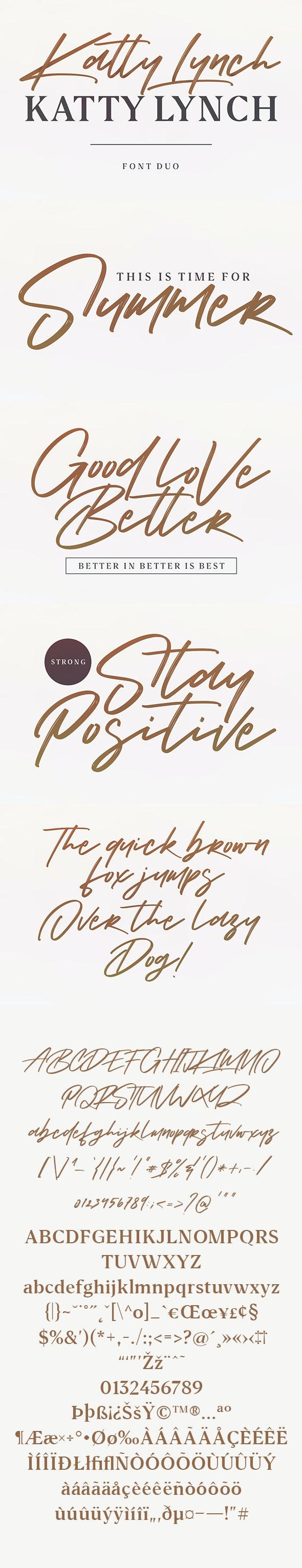 Katty Lynch Brush Font - Free Serif - Handwriting Fonts