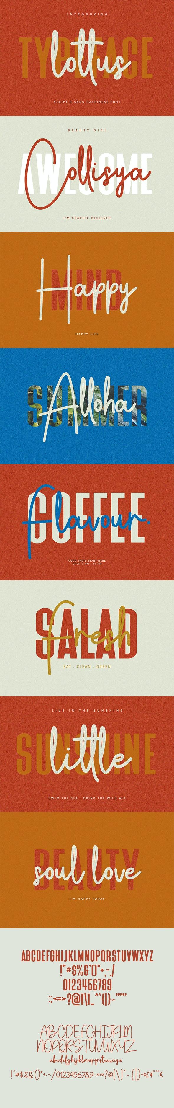 Lottus Typeface - Decorative Fonts