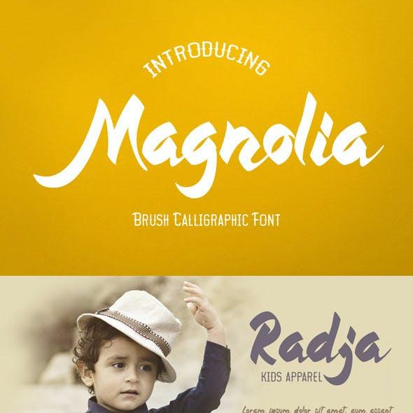 Magnolia - Callygraphic Font