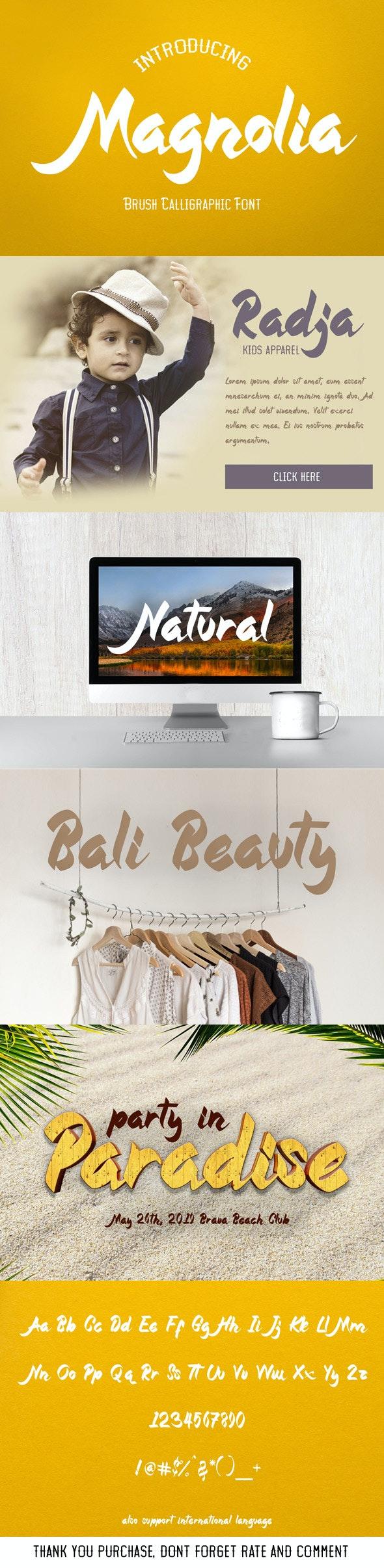 Magnolia - Callygraphic Font - Calligraphy Script