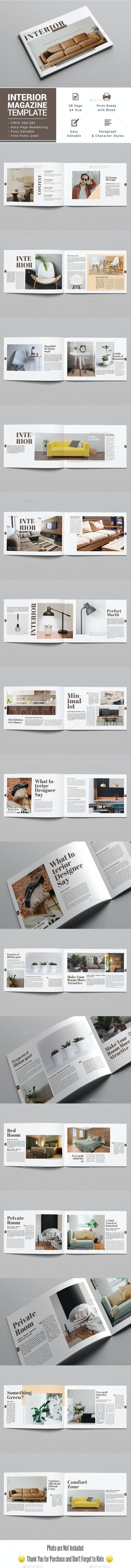 Interior Landscape Magazine Template - Magazines Print Templates