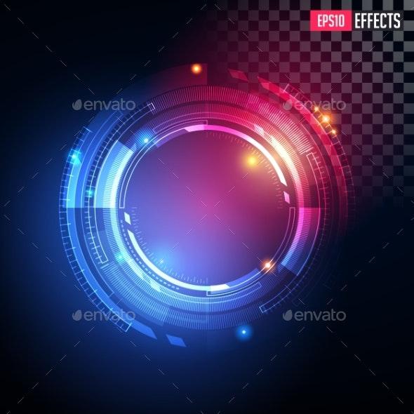 Creative Vector Illustration of Futuristic Light - Computers Technology