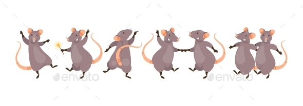 Dancing Rats Vector - Miscellaneous Vectors