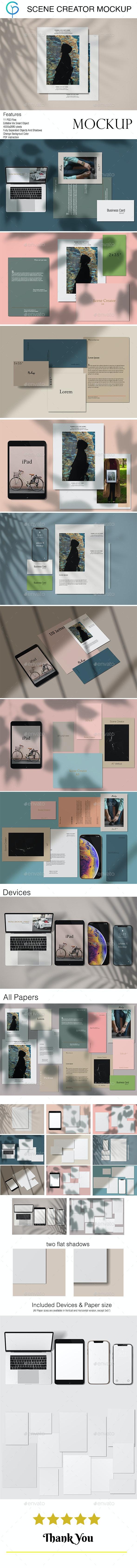 Scene Creator / Mockup Kit - Product Mock-Ups Graphics