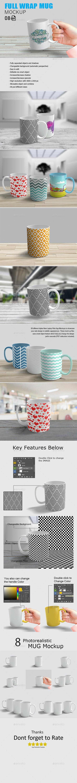 Full Wrap Mug Mockup - Food and Drink Packaging