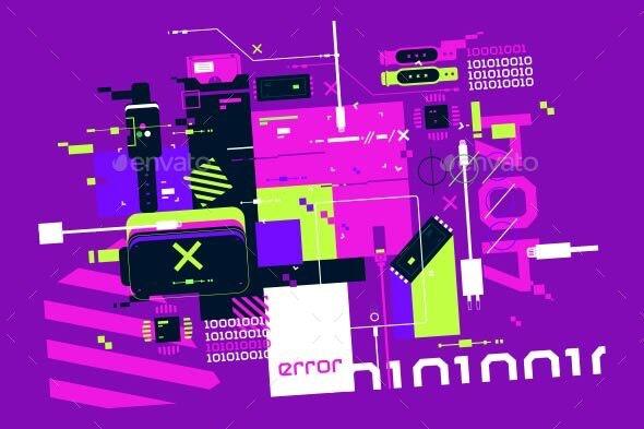 Modern Technology Background - Computers Technology