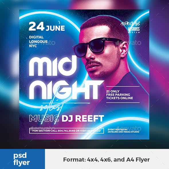 Midnight Setlist Party Flyer