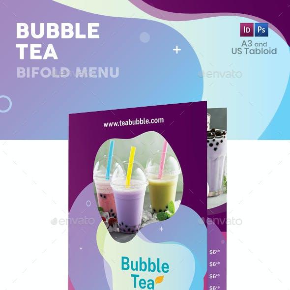 Bubble Tea Bifold / Halffold Menu 3