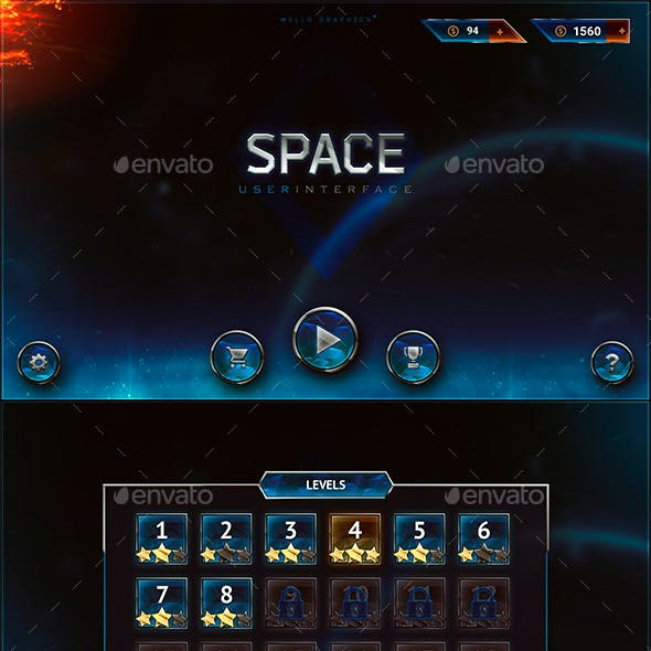 Space Future Game UI Pack