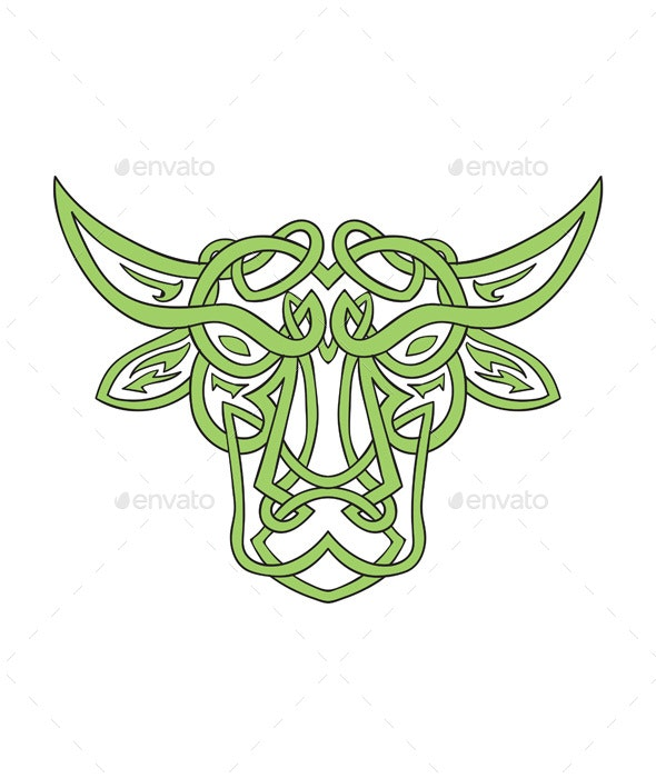 Taurus Bull Celtic Knot - Animals Characters