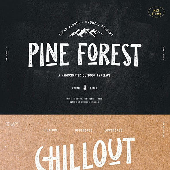 Pine Forest - Outdoor Typeface