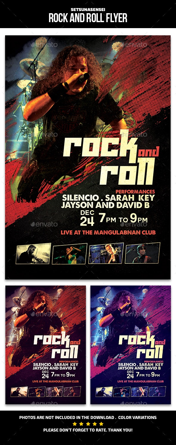 Rock and Roll Flyer - Events Flyers