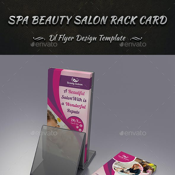 Spa Beauty Salon Rack Card DL Flyer Design