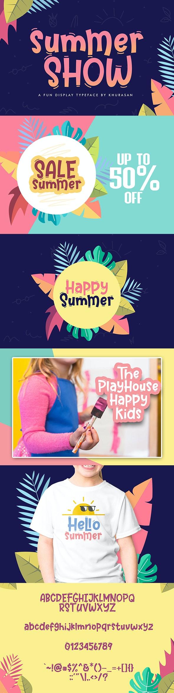 Summer Show - Sans-Serif Fonts