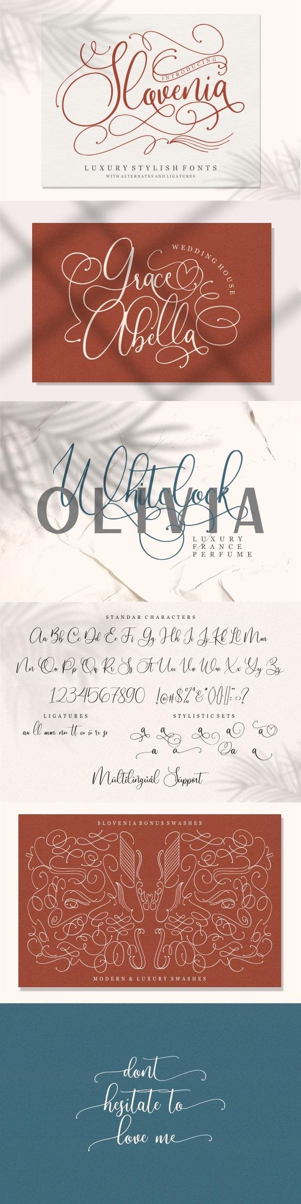 Slovenia - Calligraphy Script