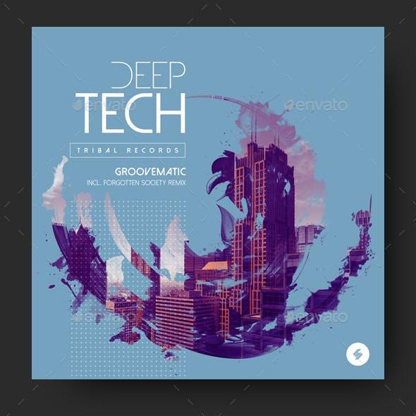 Deep Tech - Electronic Music Album Cover Artwork Template