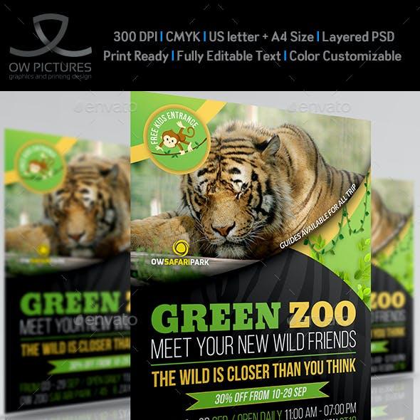 Zoo Safari Flyer Template Vol.2