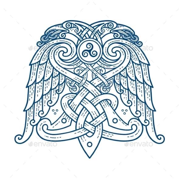 Scandinavian Tattoo of the Symbol of God Odin