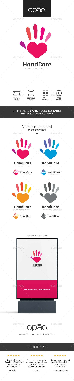 Hand Care Heart Logo - Symbols Logo Templates