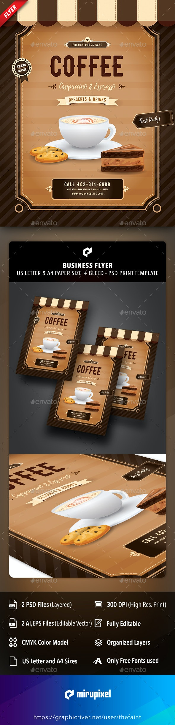 Coffee Station Business Flyer - Commerce Flyers